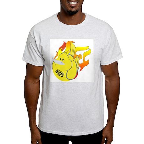 FLAMIN' PHAT BIRD Ash Grey T-Shirt