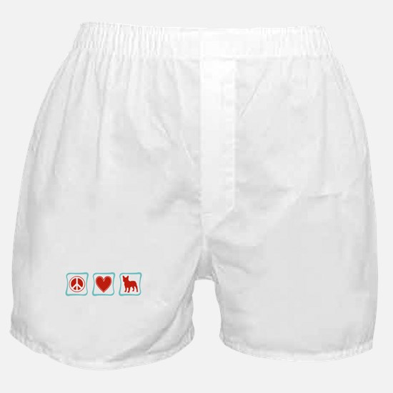 Peace, Love, French Bulldogs Boxer Shorts