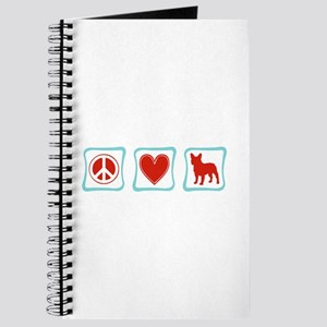 Peace, Love, French Bulldogs Journal