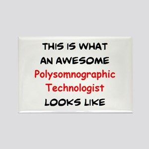awesome polysomnographic technolo Rectangle Magnet