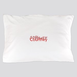 Courtney-red Pillow Case