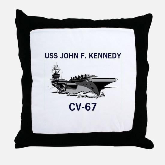 USS KENNEDY Throw Pillow