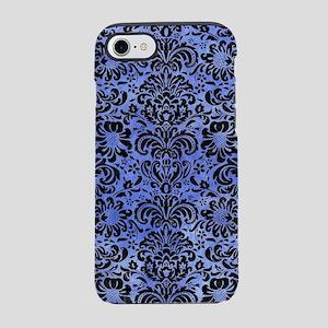 DAMASK2 BLACK MARBLE & BLUE WA iPhone 7 Tough Case