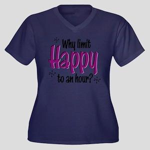 Limit Happy Hour? Vneck T Dk Plus Size T-Shirt