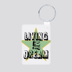 OYOOS Living My Dream design Aluminum Photo Keycha