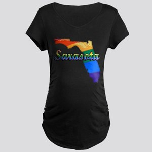 Sarasota, Florida, Gay Pride, Maternity Dark T-Shi