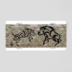 Aluminum Hog Doggin' Tribal License Plate