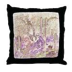Wild Saguaros Throw Pillow
