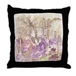 Wild Saguaros Throw Pillow