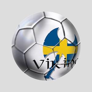 "Sverige Viking Soccer 3.5"" Button"