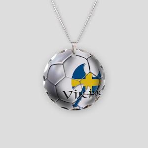 Sverige Viking Soccer Necklace Circle Charm