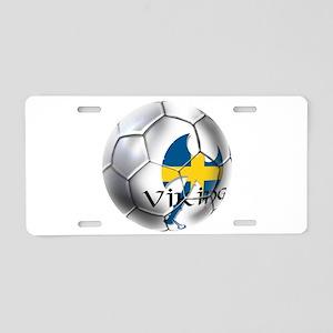 Sverige Viking Soccer Aluminum License Plate