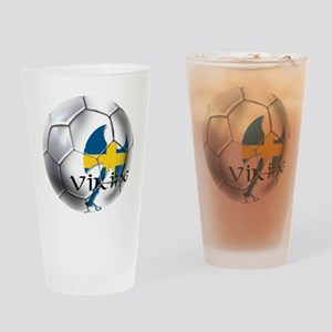 Sverige Viking Soccer Drinking Glass