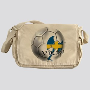Sverige Viking Soccer Messenger Bag