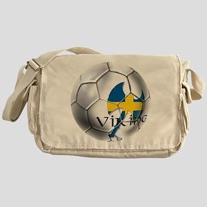Sverige Viking Soccer Messenger Bag