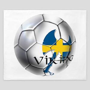 Sverige Viking Soccer King Duvet