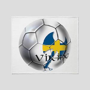 Sverige Viking Soccer Throw Blanket