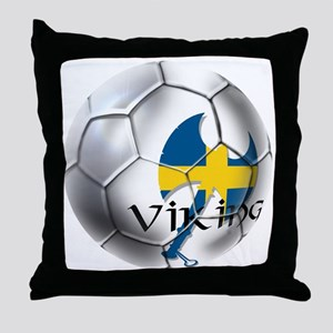 Sverige Viking Soccer Throw Pillow