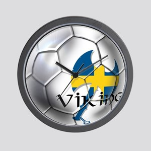 Sverige Viking Soccer Wall Clock
