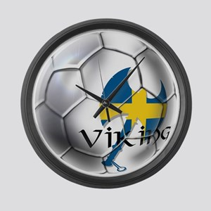 Sverige Viking Soccer Large Wall Clock