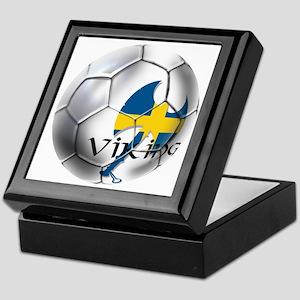 Sverige Viking Soccer Keepsake Box