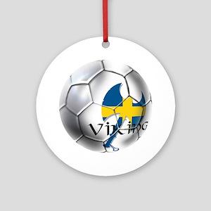 Sverige Viking Soccer Ornament (Round)