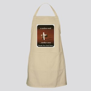 A Careless Word BBQ Apron