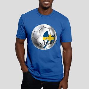 Swedish Soccer Ball Men's Fitted T-Shirt (dark)