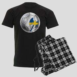 Swedish Soccer Ball Men's Dark Pajamas