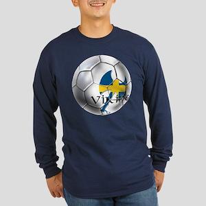Swedish Soccer Ball Long Sleeve Dark T-Shirt