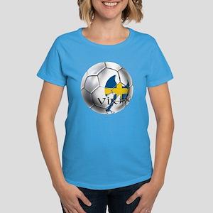 Swedish Soccer Ball Women's Dark T-Shirt