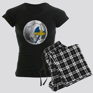 Swedish Soccer Ball Women's Dark Pajamas