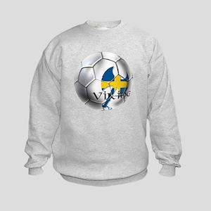 Swedish Soccer Ball Kids Sweatshirt