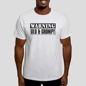 Warning Old And Grumpy Light T-Shirt