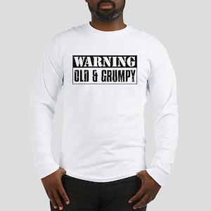 Warning Old And Grumpy Long Sleeve T-Shirt