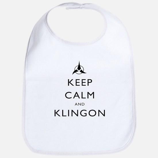 Keep Calm and Klingon Bib