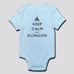 Keep Calm and Klingon Infant Bodysuit
