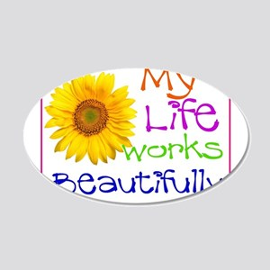 My Life Works 22x14 Oval Wall Peel