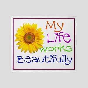 My Life Works Throw Blanket