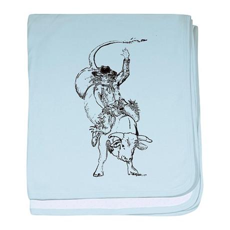 Bull rider baby blanket