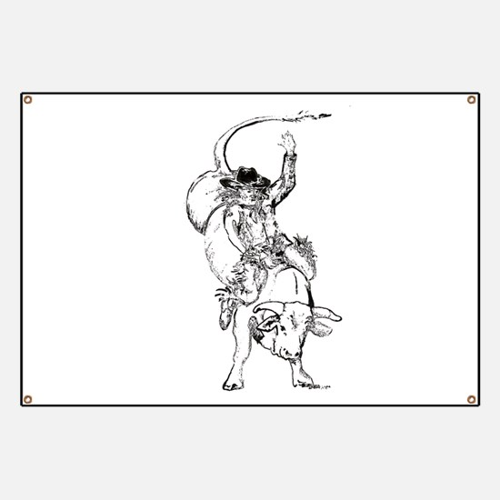 Bull rider Banner