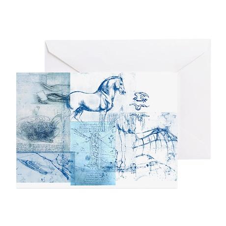 Blue daVinci Greeting Cards (Pk of 10)