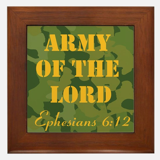 Army of the Lord (Ephesians 6 Framed Tile