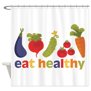 Health Food Shower Curtains