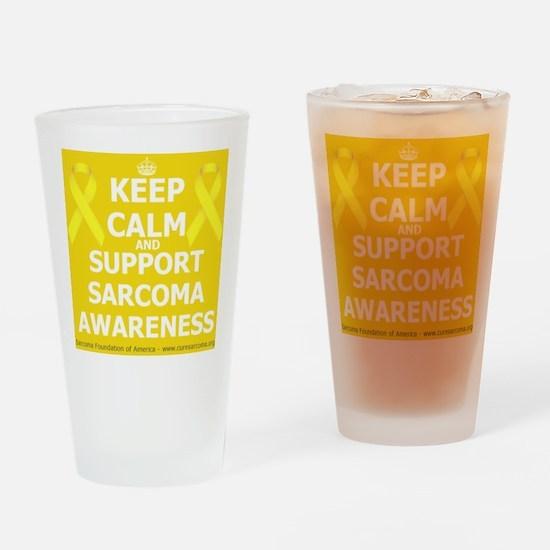Keep Calm Sarcoma Awareness Drinking Glass