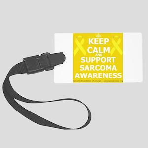 Keep Calm Sarcoma Awareness Large Luggage Tag
