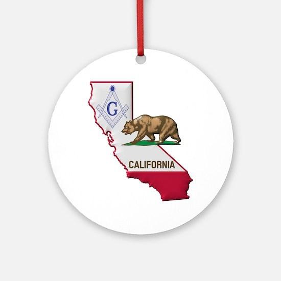 Cool California flag Round Ornament