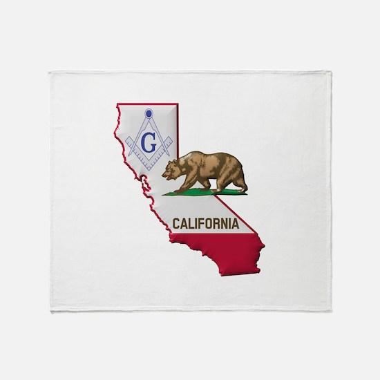 Cute California bear flag Throw Blanket
