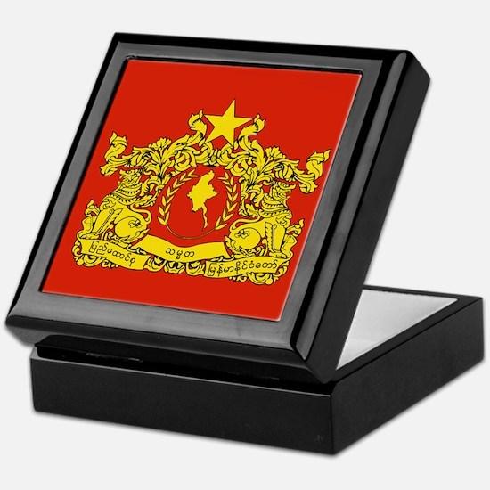Myanmar State Seal Keepsake Box