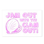 Jam Out with yer Clam Out! Postcards (Package of 8